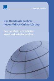 Das Handbuch zu Ihrer neuen Weka-Online-Lösung