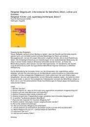 Ratgeber Magersucht. Informationen für Betroffene, Eltern, Lehrer ...