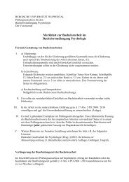 Bachelorarbeit Gestaltung - Bergische Universität Wuppertal