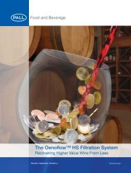 The Oenoflow™ HS Filtration System - Pall Corporation (PLL)