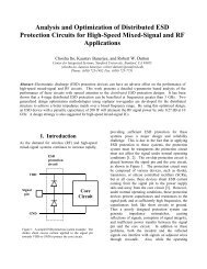 Analysis and Optimization of Distributed ESD Protection ... - CiteSeerX