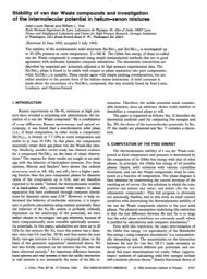 Stability of van der Waals compounds and investigation - Complex ...