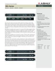 SRA Series - J&H Licht en Geluid