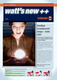 Goodbye incandescent lamps – hello LED! - Osram
