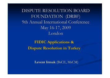 FIDIC Applications & Dispute Resolution in Turkey