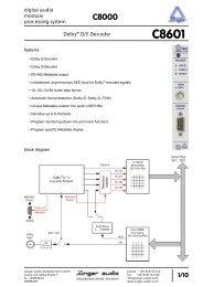 Jünger Audio C8601 Manual - PDF - Aspen Media.