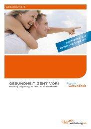 Kursprogramm des Forums Gesundheit - Welt-Herz-Tag