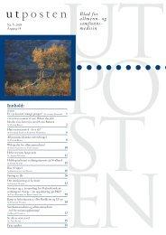 5. utgave av Utposten 2005 (PDF-format)