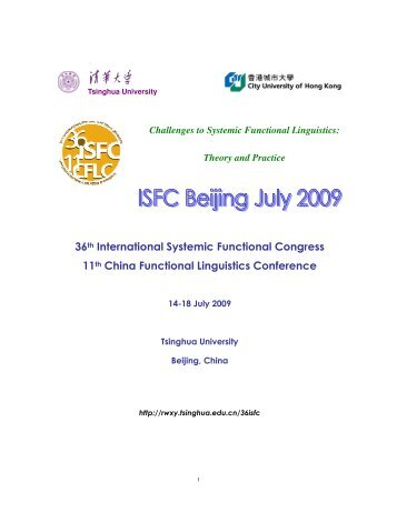 36th International Systemic Functional Congress 11th China ...