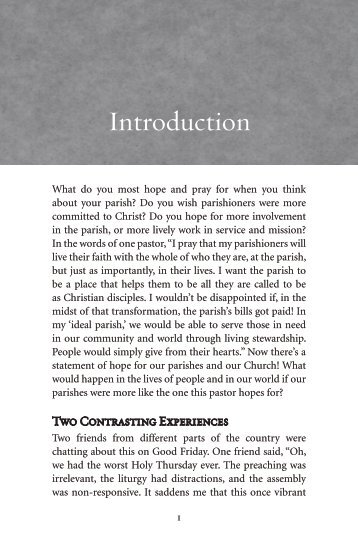 Introduction - Pastoral Planning