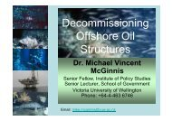 Decommissioning Offshore Oil Structures - Maritime New Zealand
