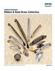 Ribbon & Reed Brass Collection Cabinet Hardware - Emtek