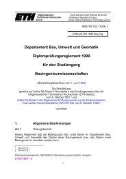 Departement Bau, Umwelt und Geomatik Diplomprüfungsreglement ...