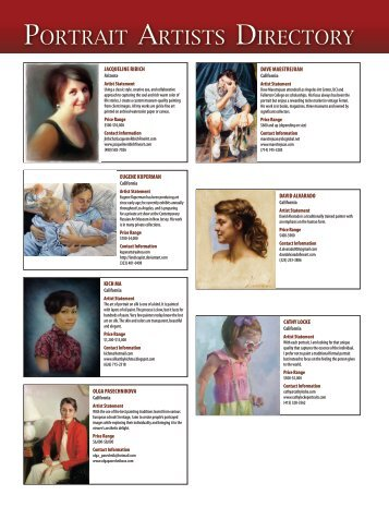 PORTRAIT ARTISTS DIRECTORy - American Art Collector