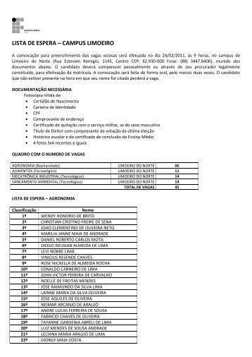 CAMPUS LIMOEIRO DO NORTE (pdf) - IFCE
