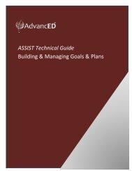 ASSIST Technical Guide Building & Managing Goals ... - AdvancED