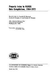 Property Index to NSRDS - NIST