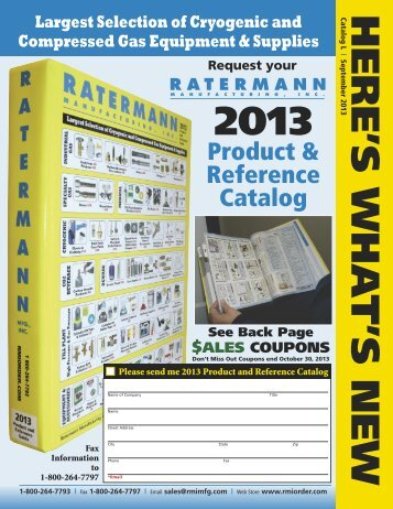 to see our 2013 What's New flyer! - Ratermann Manufacturing Inc