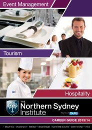 Event Management Tourism Hospitality - TAFE NSW - Northern ...