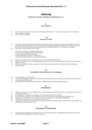 Satzung - Altenburger Musikfestival 2013
