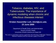 Tobacco diabetes HIV and Tobacco, diabetes, HIV, and ...