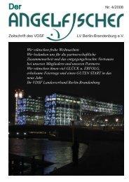 Der Angelfischer 4/2008 - VDSF LV Berlin-Brandenburg e.V.
