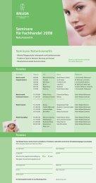 Seminare für Fachhandel 2008 - Weleda