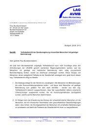 Frau Bundesministerin Dr. Ursula von der Leyen ... - lag-avmb-bw.de