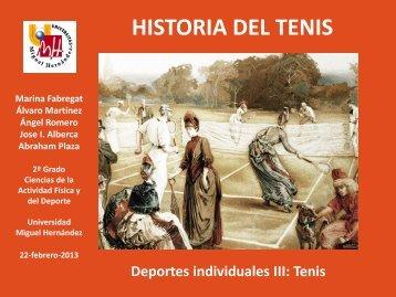 Tema 1. Historia del tenis 2013 - Miguel Crespo