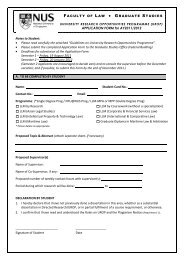 APPLICATION FORM for AY2011/2012 Notes to Student: • Please ...
