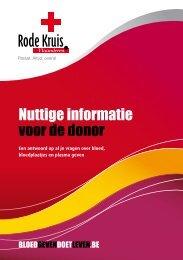 Nuttige info voor de donor - Rode Kruis-Vlaanderen