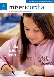 In die Schule gehen - Orden der Barmherzigen Brüder Bayern