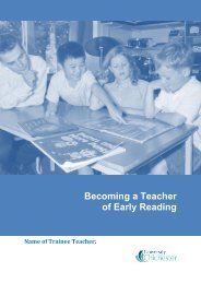 Becoming a Teacher of Early Reading - University of Chichester