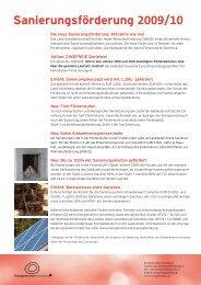 Infoblatt zur Sanierung - Hittisau