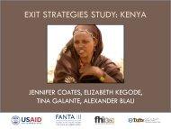 Exit Strategies Study: Kenya - FSN Network Portal