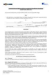 contratto di prestazione di servizi di preincubazione ... - Biclazio.it