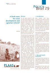 A Fresh Start for Rural Development and Agrarian Reform?