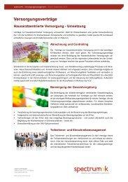 Produktblatt HzV Umsetzung - spectrumK
