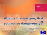 What is it about you, that you act so dangerously? - cast-eu.org