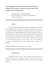 A chromatographic and surface-activity analysis of the fractions of ...
