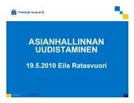 Helsingin kaupungin asianhallinnan prosessien uudistaminen