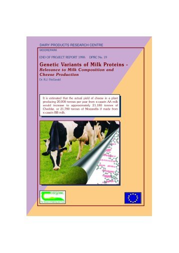 Genetic variants of milk proteins - 4245 - Teagasc