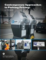 Contemporary Approaches to Parking Pricing: - International ...