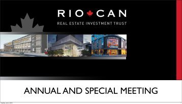 RioCan 2013 Annual and Special Meeting AGM