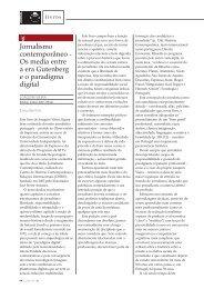 Page 1 Jornalismo contemporâneo - Os media entre a era ...