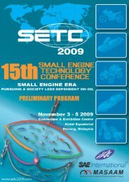 2009 - Small Engine Technology Conference SETC
