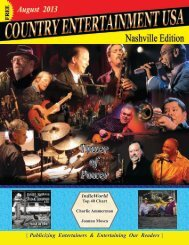To See August Issue Online - Country Entertainment USA