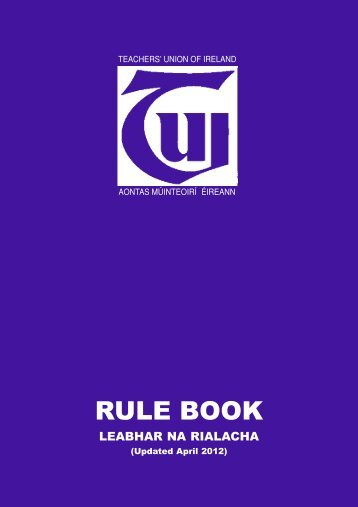 to download the current TUI Rule Book (updated April 2012)