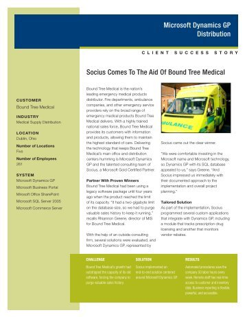 Read the Bound Tree Medical Success Story - Socius