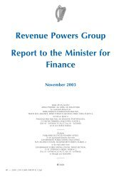 Revenue Powers Group Report to the Minister for Finance